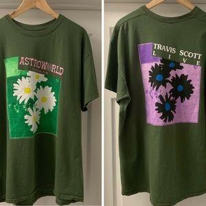 Travis Scott Astroworld Mens Size XL Green T-Shirt